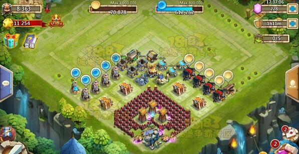 城堡争霸12本菊花阵稳定过D5关卡攻略