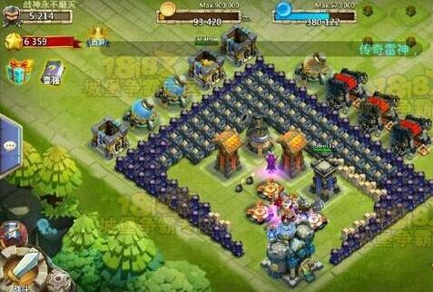 城堡争霸13本方正菊花阵稳过C5关卡攻略